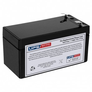 Leoch 12V 1.2Ah LP12-1.2 Battery with F1 Terminals