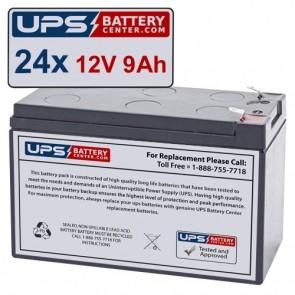 Liebert 24-TLV1290GXT3-288RTBKIT Compatible Replacement Battery Set