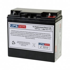 LongWay 12V 20Ah 6FM20S Battery with F3 Terminals