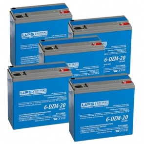 Motorino XMs 60V 20Ah Battery Set