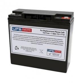 Ostar Power 12V 22Ah OP12220D Deep Cycle Battery with M5 - Insert Terminals