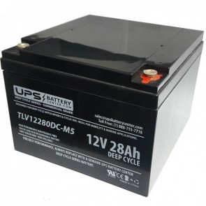Ostar Power 12V 28Ah OP12280D Battery with M5 - Insert Terminals
