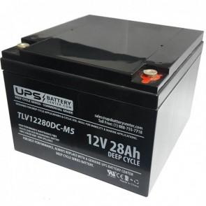Ostar Power 12V 28Ah OP12280D Battery with M5 - Insert Terminals
