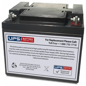 Ostar Power 12V 45Ah OP12450D Battery with F6 - Nut & Bolt Terminals