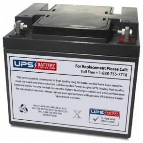 Ostar Power 12V 45Ah OP12450D Battery with F6 - Nut & Bolt Terminals