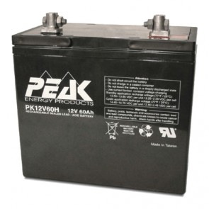 12V 60Ah Peak Energy PK12V60H Battery