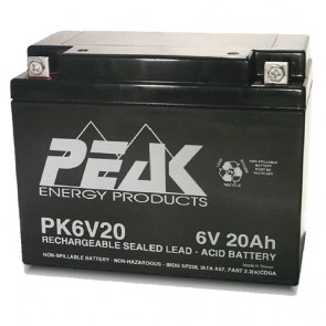PK6V20B1 Peak Energy 6V 20Ah Battery