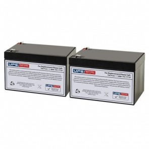 Potter Electric PFC-5004E (Set of 2) 12V 12Ah Replacement Batteries