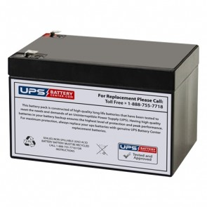Power-Sonic 12V 12Ah PS-12120 Battery with F2 Terminals