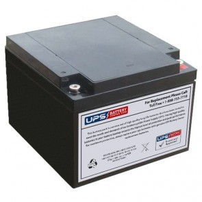 Power-Sonic 12V 26Ah PS-12260 Battery with M5 Threaded Insert Terminals