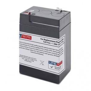 Prescolite 6V 5Ah ERB-0604 Battery with F1 Terminals