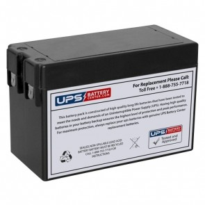 RIMA 12V 2.5Ah UN2.5-12S Battery with F1 Terminals
