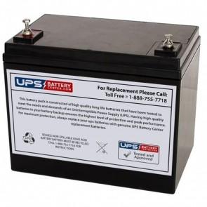 RIMA 12V 75Ah UN75-12D Battery with M6 Terminals