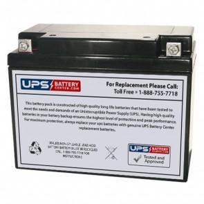 SigmasTek 6V 20Ah SP6-20 Battery with F3 - Nut & Bolt Terminals