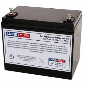 SigmasTek 12V 75Ah SPX12-300FR Battery with M6 Insert Terminals