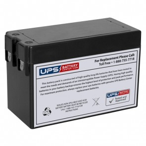 TLV1225V1 - 12V 2.5Ah Sealed Lead Acid Battery with F1 Terminals