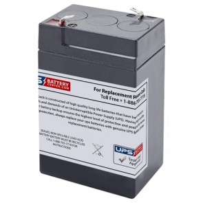 TLV650 - 6V 5Ah Sealed Lead Acid Battery with F1 Terminals