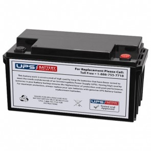 Vision 12V 65Ah 6FM65-X Battery with M6 - Insert Terminals