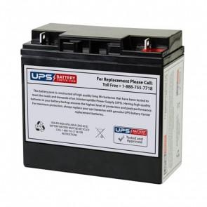 2412 (900 Amp Battery Jumper/Air Compressor) - Wagan Corp Jump Starter 12V 20Ah F3 Nut & Bolt Deep Cycle Battery