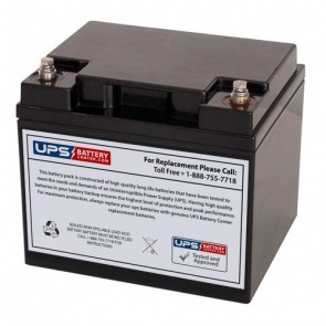 Werker 12V 45Ah WKA12-44C/FR Battery with F11 Insert Terminals