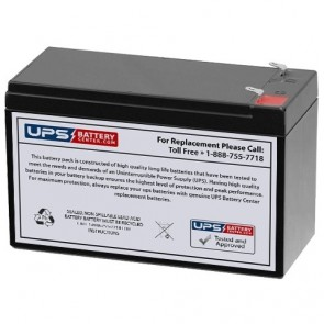 XNB 12V 7.5Ah SN12007.5 Battery with F2 Terminals